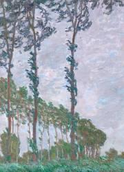 Effet de vent, série des peupliers (Monet Claude) - Muzeo.com