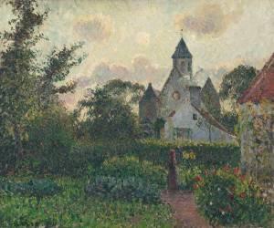Eglise de Knocke (Belgique) (Pissarro Camille) - Muzeo.com