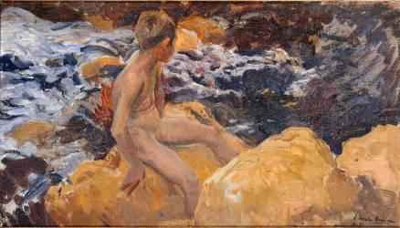 Enfant au bord de la mer (Sorolla y Bastida Joaquin) - Muzeo.com