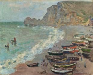Etreta:la plage et la Porte d'Amont (Monet Claude) - Muzeo.com