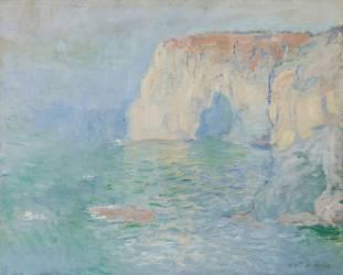 Etretat, la Manneporte, reflets sur l'eau (Monet Claude) - Muzeo.com