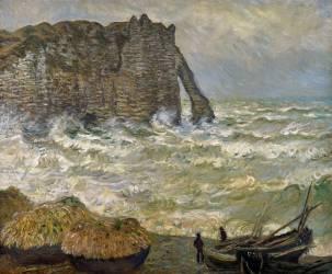 Etretat, mer agitée (Monet Claude) - Muzeo.com