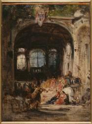 Fête dans un palais à Naples (Ziem Félix) - Muzeo.com
