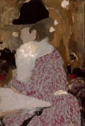 Femme assise dans un bar (Vuillard Edouard) - Muzeo.com