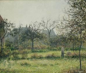 Femme dans un verger, matinée d'automne, jardin d'Eragny (Camille Pissarro) - Muzeo.com
