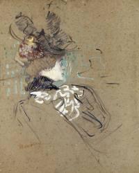 Femme de profil (madame Lucy) (Toulouse-Lautrec Henri de) - Muzeo.com
