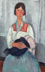 Femme gitane avec enfant. (Modigliani Amedeo) - Muzeo.com