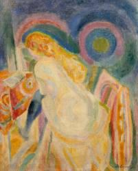 Nude girl reading (Robert Delaunay) - Muzeo.com