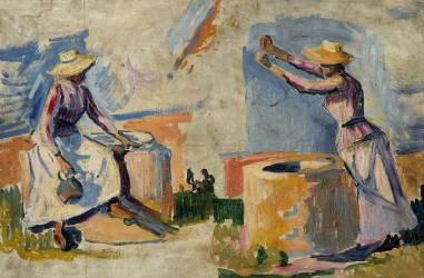 Femmes au puits, esquisse II (Signac Paul) - Muzeo.com