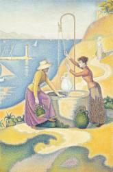 Femmes au puits, ou Jeunes Provençales au puits (Signac Paul) - Muzeo.com