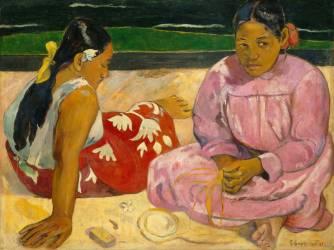 Femmes de Tahiti ou Sur la plage (Gauguin Paul) - Muzeo.com