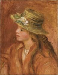 Fillette au chapeau de paille (Renoir Auguste) - Muzeo.com