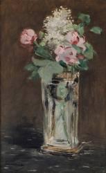 Fleurs dans un vase de cristal (Manet Edouard) - Muzeo.com