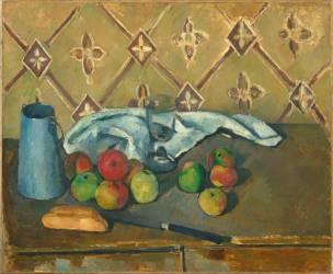 Fruits, serviette et boîte à lait (Paul Cézanne) - Muzeo.com