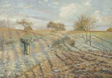 Gelée blanche (Pissarro Camille) - Muzeo.com