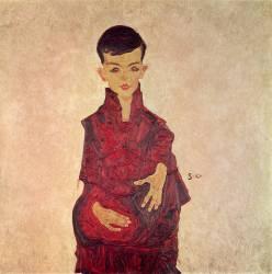 Rainerbub (Portrait of Herbert Rainer aged about 6 years) (Schiele Egon) - Muzeo.com