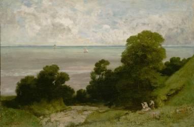 Honfleur ou l'Embouchure de la Seine (Gustave Courbet) - Muzeo.com
