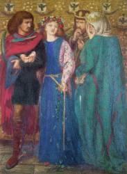 Horatio Discovering the Madness of Ophelia (Rossetti Dante Gabriel) - Muzeo.com