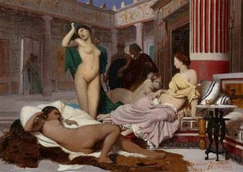 Intérieur grec (Gerôme Jean Léon) - Muzeo.com