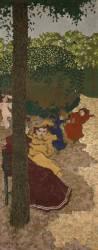 Jardins publics : fillettes jouant (Vuillard Edouard) - Muzeo.com