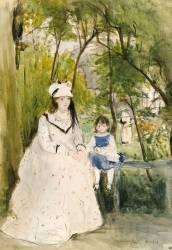 Jeune femme dans un paysage (Morisot Berthe) - Muzeo.com