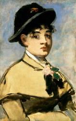 Jeune femme à la pélerine (Manet Edouard) - Muzeo.com