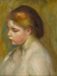 Jeune femme nue en buste (Renoir Auguste) - Muzeo.com
