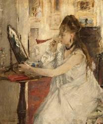 Jeune femme se poudrant (Morisot Berthe) - Muzeo.com