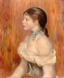 Jeune fille au ruban bleu (Renoir Auguste) - Muzeo.com
