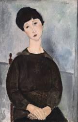 Jeune fille brune, assise (Amedeo Modigliani) - Muzeo.com