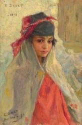 Jeune fille de Bou-Saâda, Algérie (Etienne Dinet) - Muzeo.com