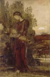Jeune fille thrace portant la tête d'Orphée (Moreau Gustave) - Muzeo.com