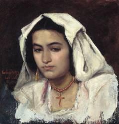 Jeune romaine (Carolus-Duran) - Muzeo.com