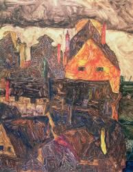 Krumau on the Molde (Schiele Egon) - Muzeo.com
