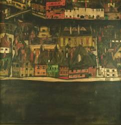 Krumau on the Molde, The Small City (Schiele Egon) - Muzeo.com