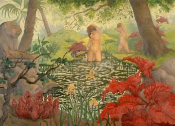 La baignade ou Lotus (Ranson Paul-Elie) - Muzeo.com