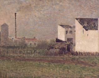 La banlieue (Seurat Georges) - Muzeo.com