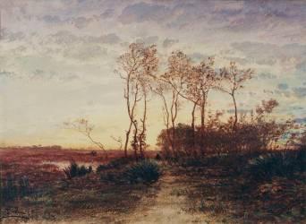 La Camargue, coucher de soleil (Ziem Félix) - Muzeo.com