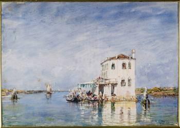 La douane à Venise (en fait Maison dans la lagune) (Ziem Félix) - Muzeo.com
