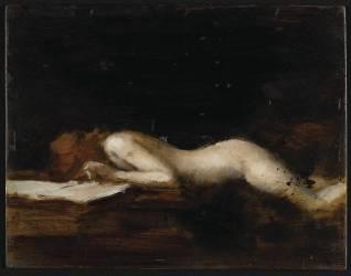 La femme qui lit : La Liseuse (recto) (Henner Jean Jacques) - Muzeo.com