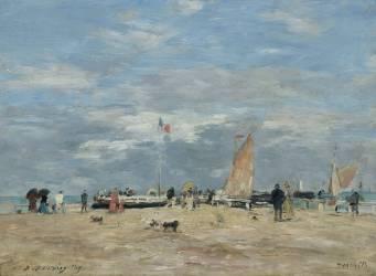 La jetée de Deauville (Boudin Louis-Eugène) - Muzeo.com