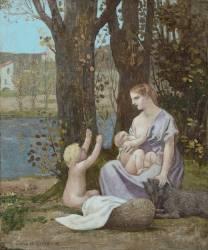 La jeune mère, dit aussi Maternité, ou la Charité (Puvis de Chavannes Pierre) - Muzeo.com