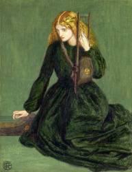 The Harp Player, a study of Annie Miller (Rossetti Dante Gabriel) - Muzeo.com
