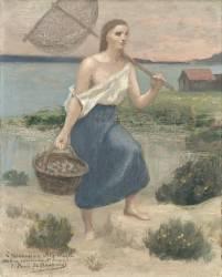 La pêcheuse (Puvis de Chavannes Pierre) - Muzeo.com