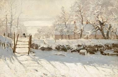 The magpie (Claude Monet) - Muzeo.com