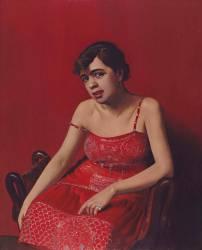 La roumaine à la robe rouge (Vallotton Félix) - Muzeo.com