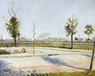 La Route de Gennevilliers : faubourg de Paris (Signac Paul) - Muzeo.com
