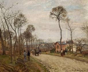 La route de Louveciennes (Pissarro Camille) - Muzeo.com