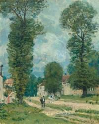 La route de Versailles (Sisley Alfred) - Muzeo.com