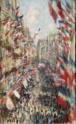 La Rue Montorgueil à Paris fête du 30 juin 1878 (Monet Claude) - Muzeo.com